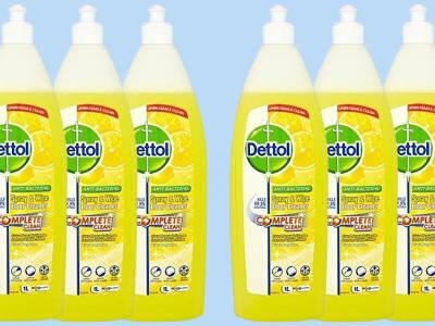 6 flessen Dettol vloer- en allesreiniger