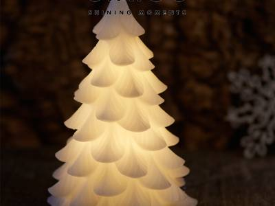 Carla Tree kerstdecoratie-11x19cm