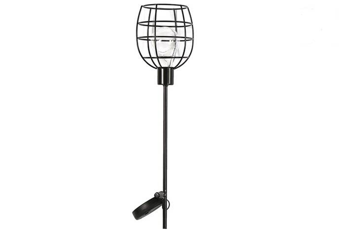 Solarlamp tuinsteker Ilja zwart 90 cm per 4 stuks