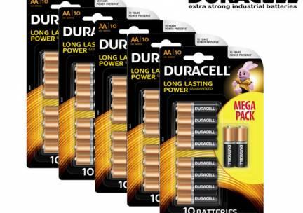 50-Pack Duracell Batterijen