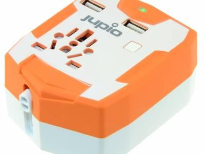 Jupio Wereldstekker - Met geïntegreerde USB en Powerbank - 6000mAh versie