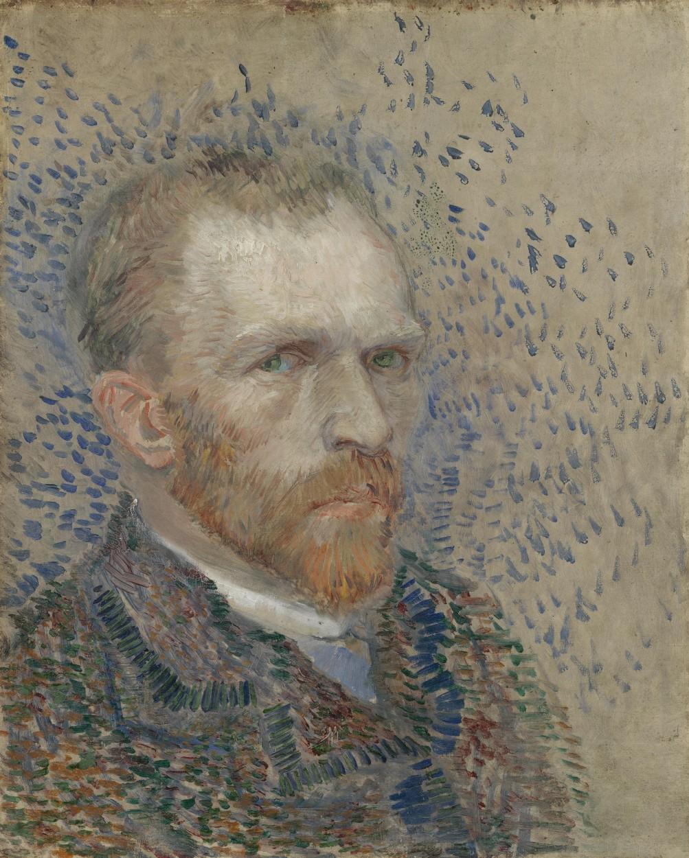 Self-portrait by Vincent van Gogh via DailyArt app, your daily dose of art getdailyart.com