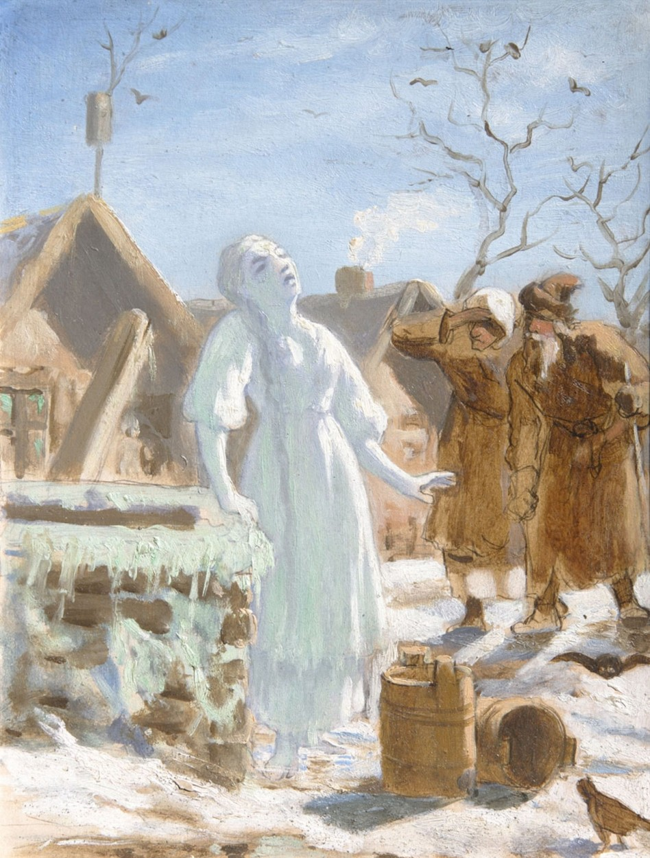 The Snow Maiden by Vasily Grigoryevich Perov via DailyArt app, your daily dose of art getdailyart.com