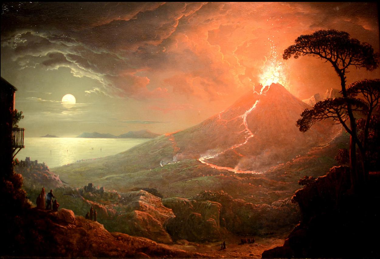 The Eruption of Vesuvius by Sebastian Pether via DailyArt ...