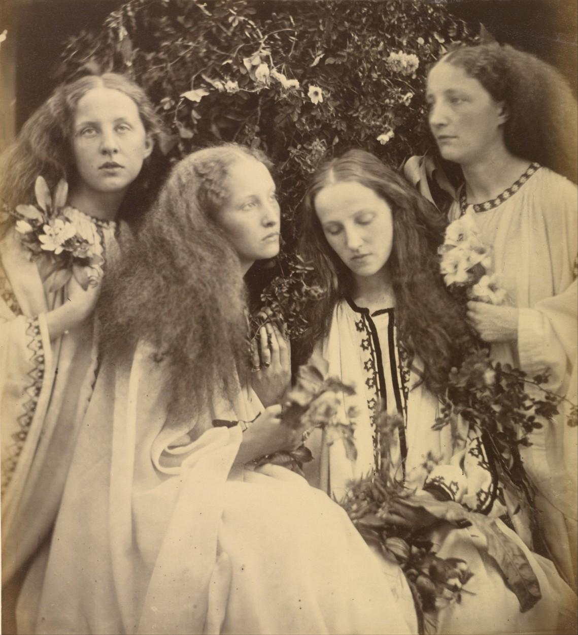The Rosebud Garden of Girls by Julia Margaret Cameron via DailyArt ...