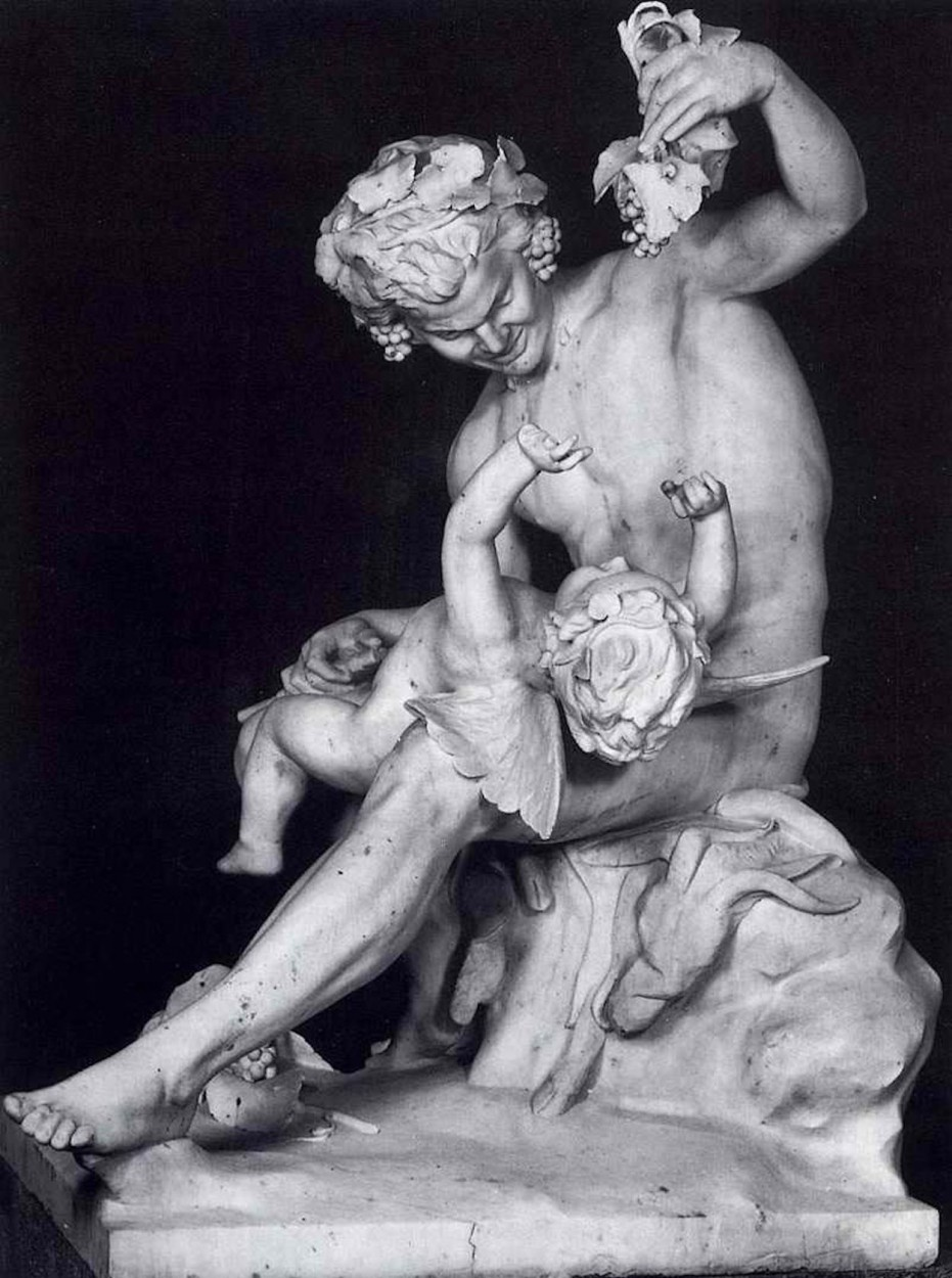 Satyr Playing With Eros by Yannoulis Chalepas via DailyArt app, your daily dose of art getdailyart.com