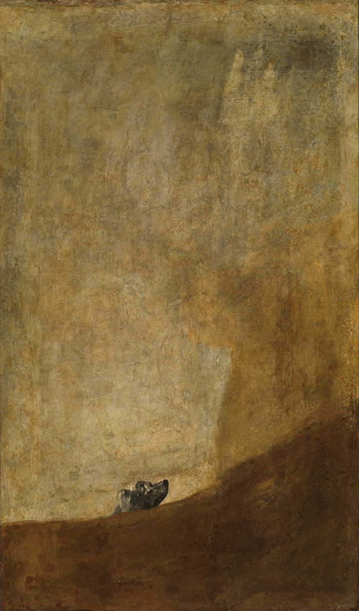 The Dog by Francisco Goya via DailyArt app, your daily dose of art getdailyart.com