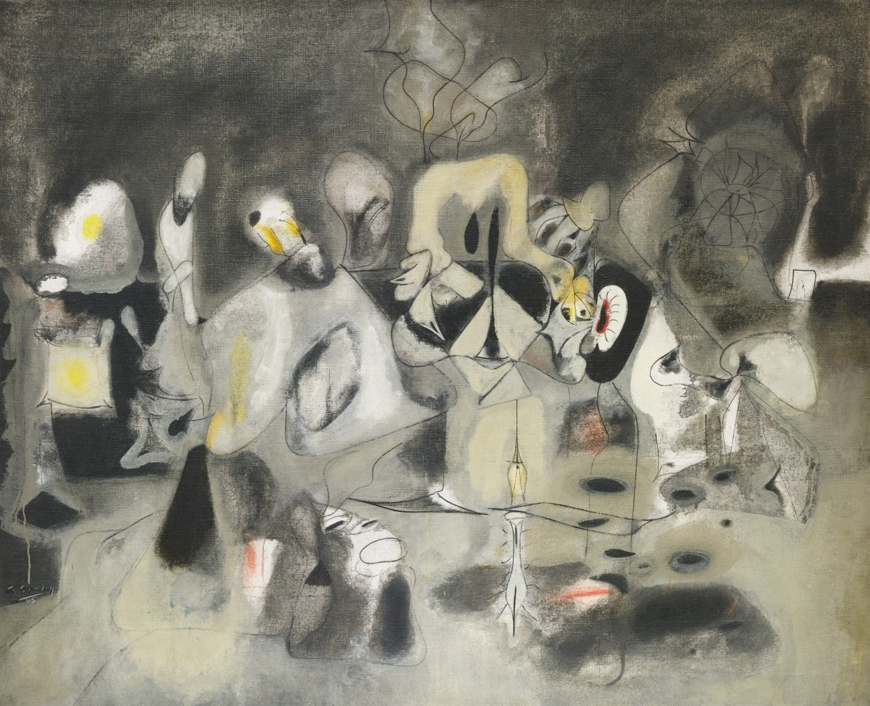 Diary of a Seducer by Arshile Gorky via DailyArt app, your daily dose of art getdailyart.com