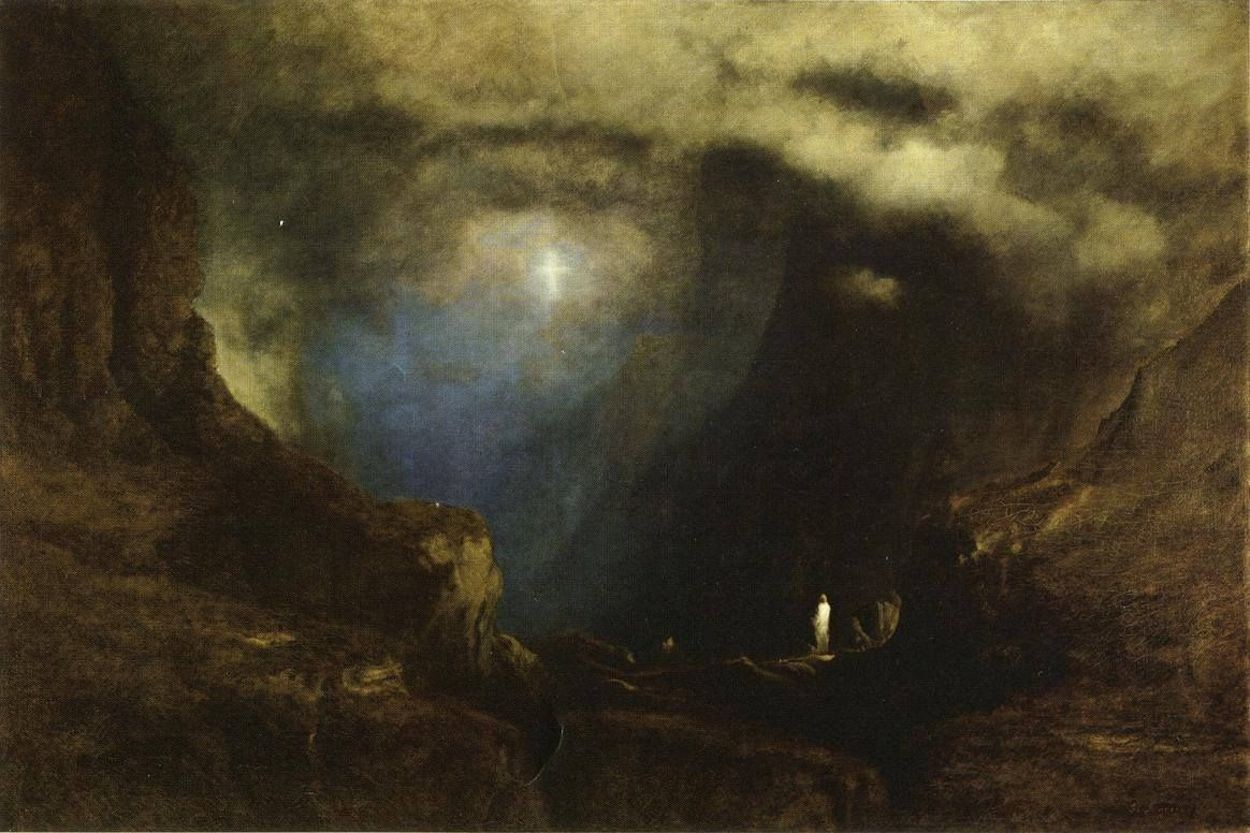 The Valley of the Shadow of Death by George Inness via DailyArt app, your daily dose of art getdailyart.com