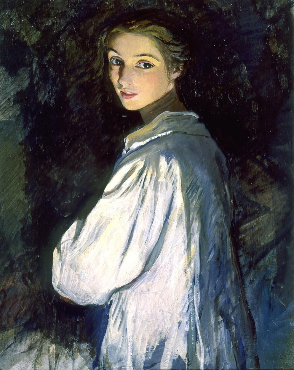 Girl with a Candle by Zinaida Serebriakova via DailyArt app, your daily dose of art getdailyart.com