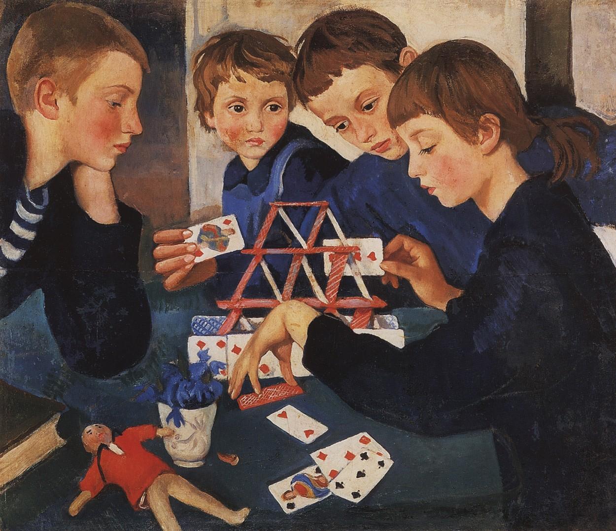 House of Cards by Zinaida Serebriakova via DailyArt app, your daily dose of art getdailyart.com