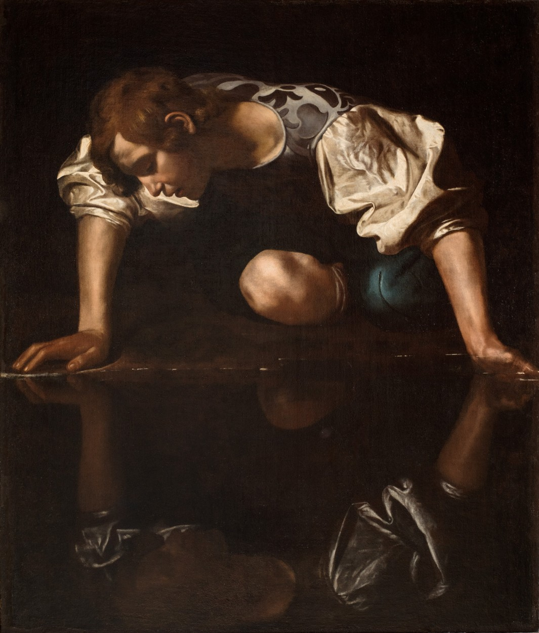 Narcissus by Caravaggio via DailyArt app, your daily dose of art getdailyart.com