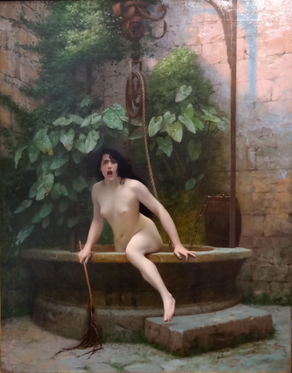 Truth Coming Out of Her Well by Jean-Léon Gérôme via DailyArt app, your daily dose of art getdailyart.com