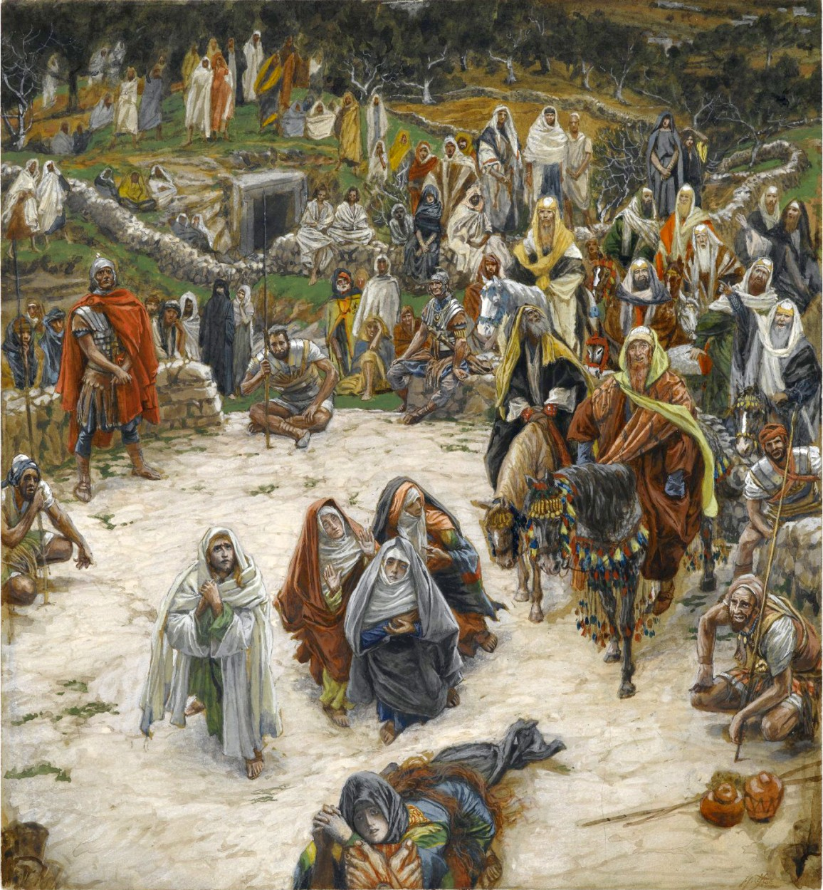 What Our Lord Saw from the Cross by James Tissot via DailyArt app, your daily dose of art getdailyart.com