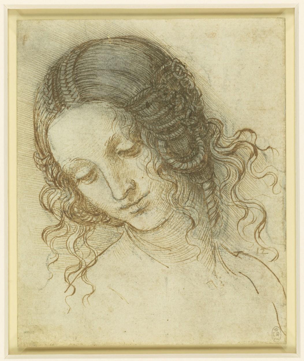 The Head of Leda by Leonardo da Vinci via DailyArt app, your daily dose of art getdailyart.com