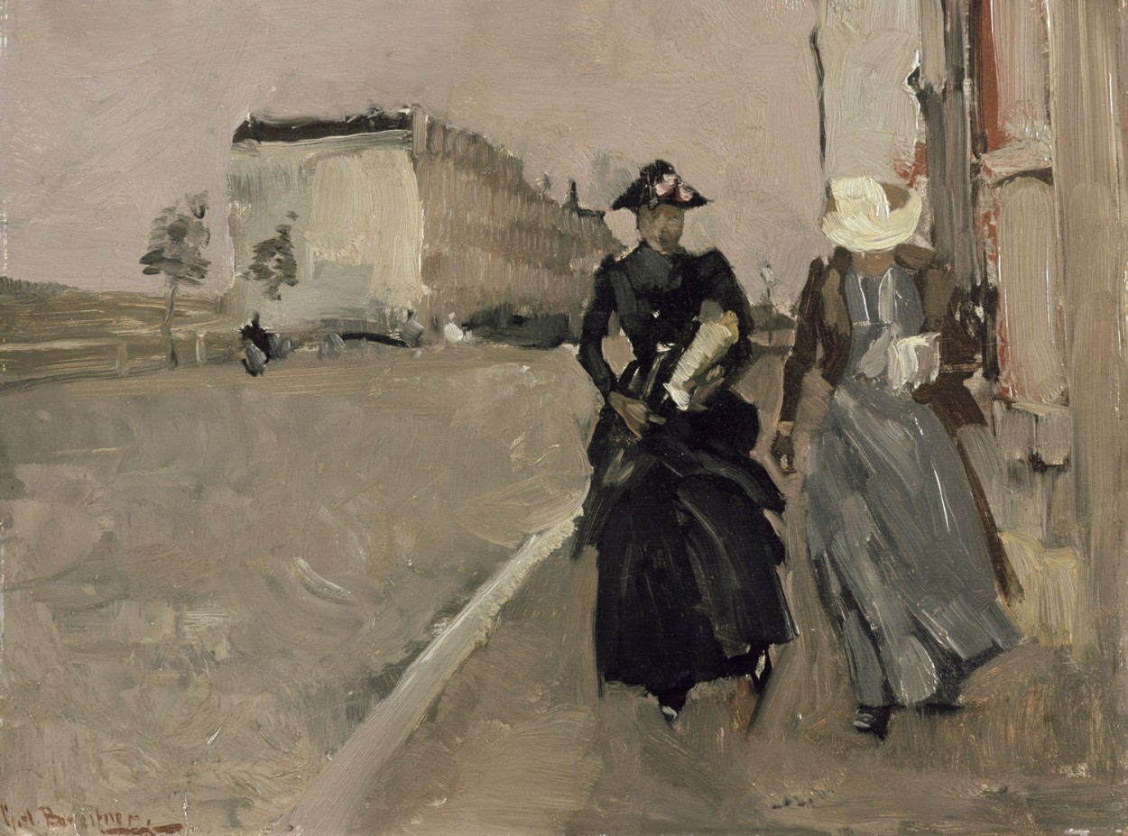 Gust of Wind by George Hendrik Breitner via DailyArt app, your daily dose of art getdailyart.com