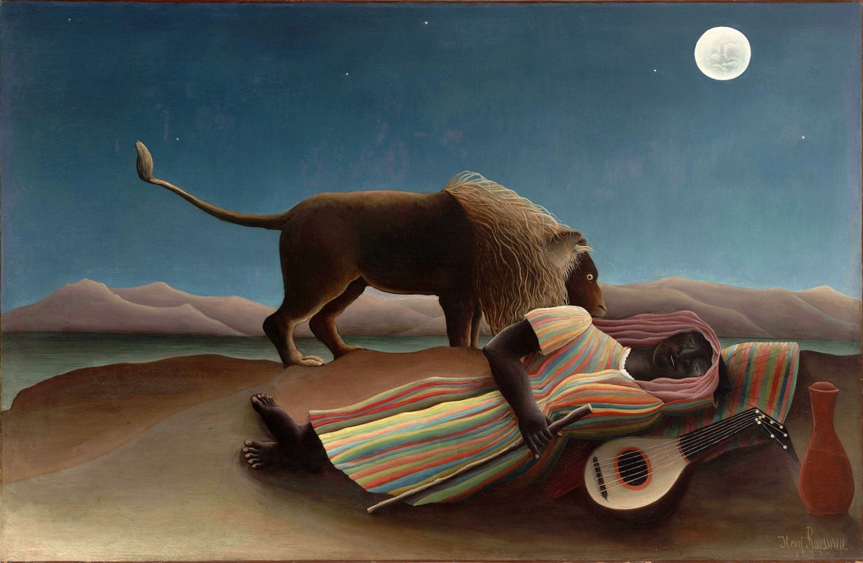 The Sleeping Gypsy by Henri Rousseau via DailyArt app, your daily dose of art getdailyart.com