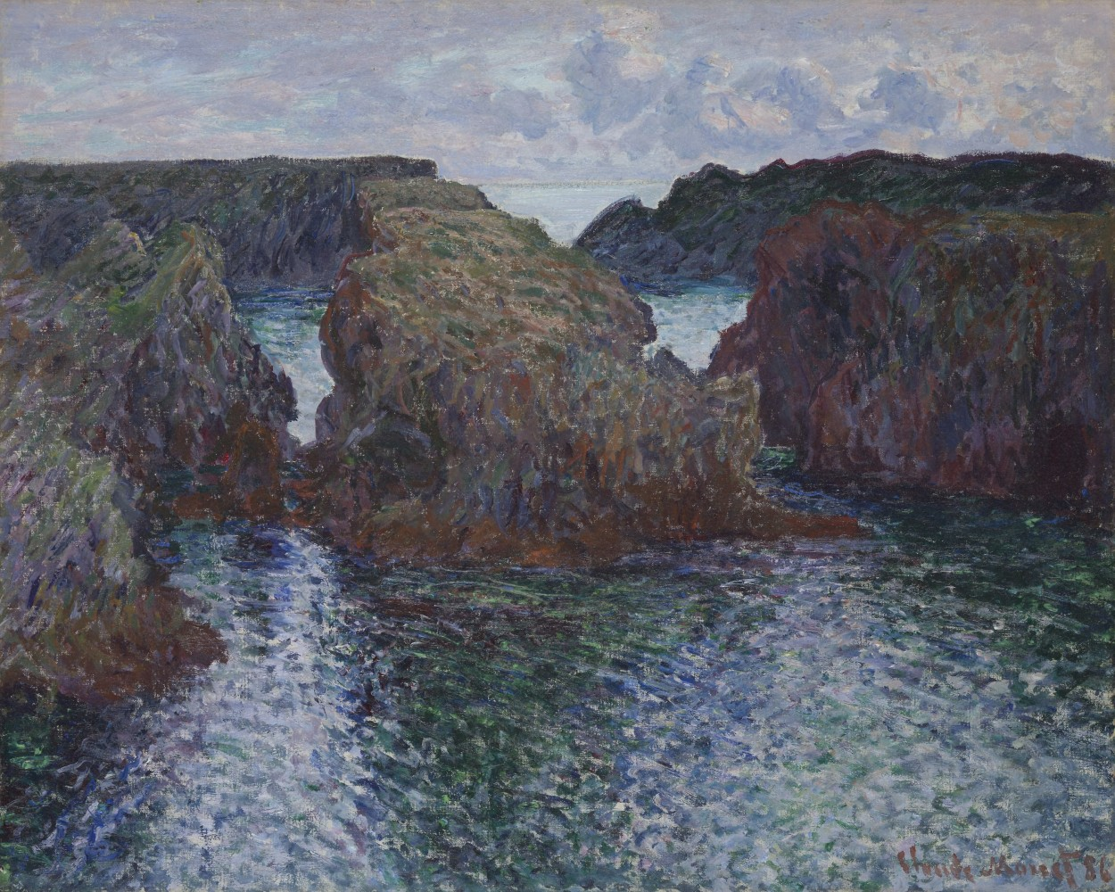 Rocks at Port-Goulphar, Belle-Île by Claude Monet via DailyArt app, your daily dose of art getdailyart.com