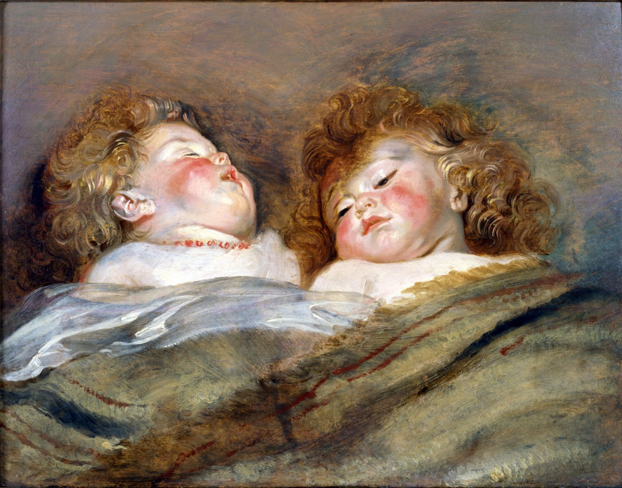 Two Sleeping Children by Peter Paul Rubens via DailyArt app, your daily dose of art getdailyart.com