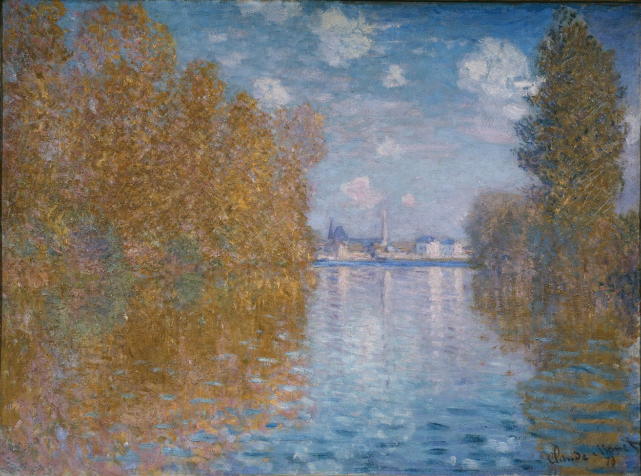 Autumn Effect at Argenteuil by Claude Monet via DailyArt app, your daily dose of art getdailyart.com