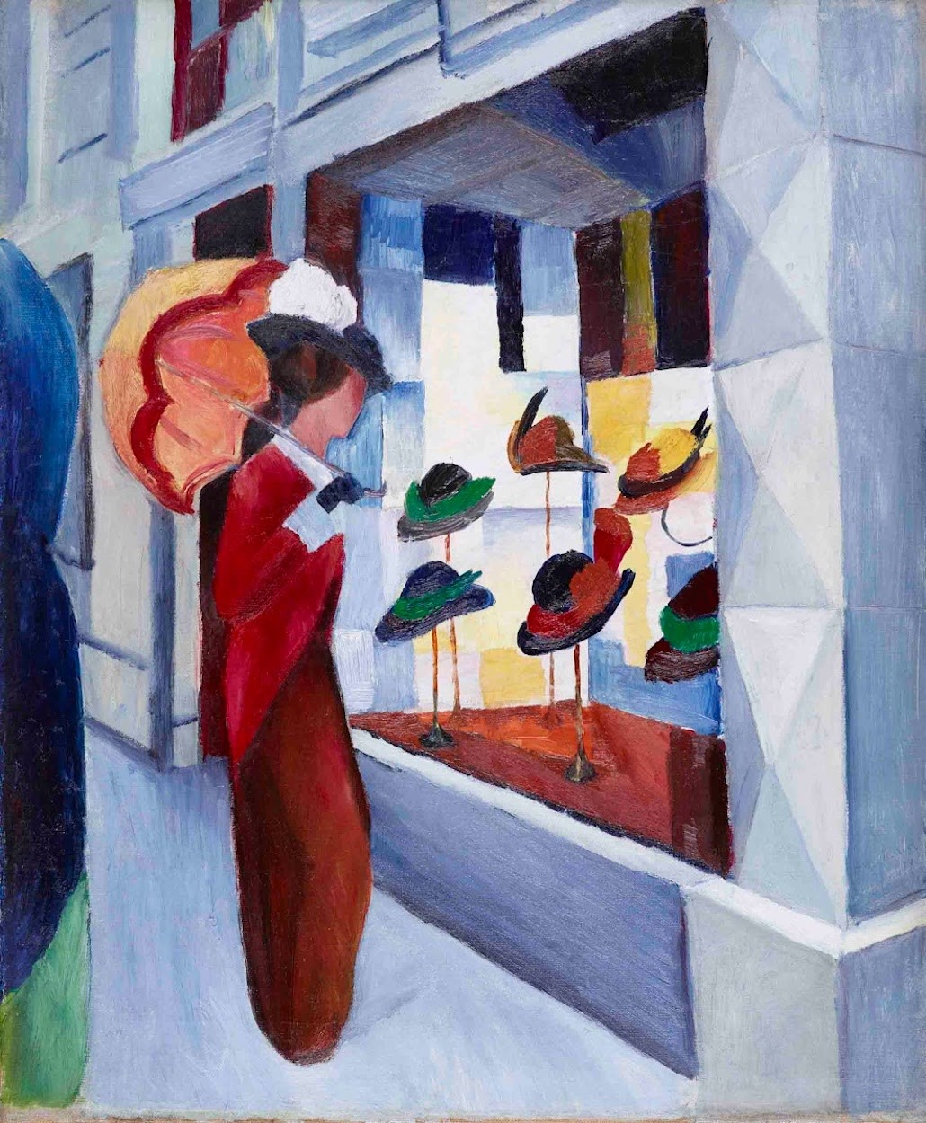 """""""Milliner's Shop"""" by August Macke via DailyArt app, your daily dose of art getdailyart.com"""