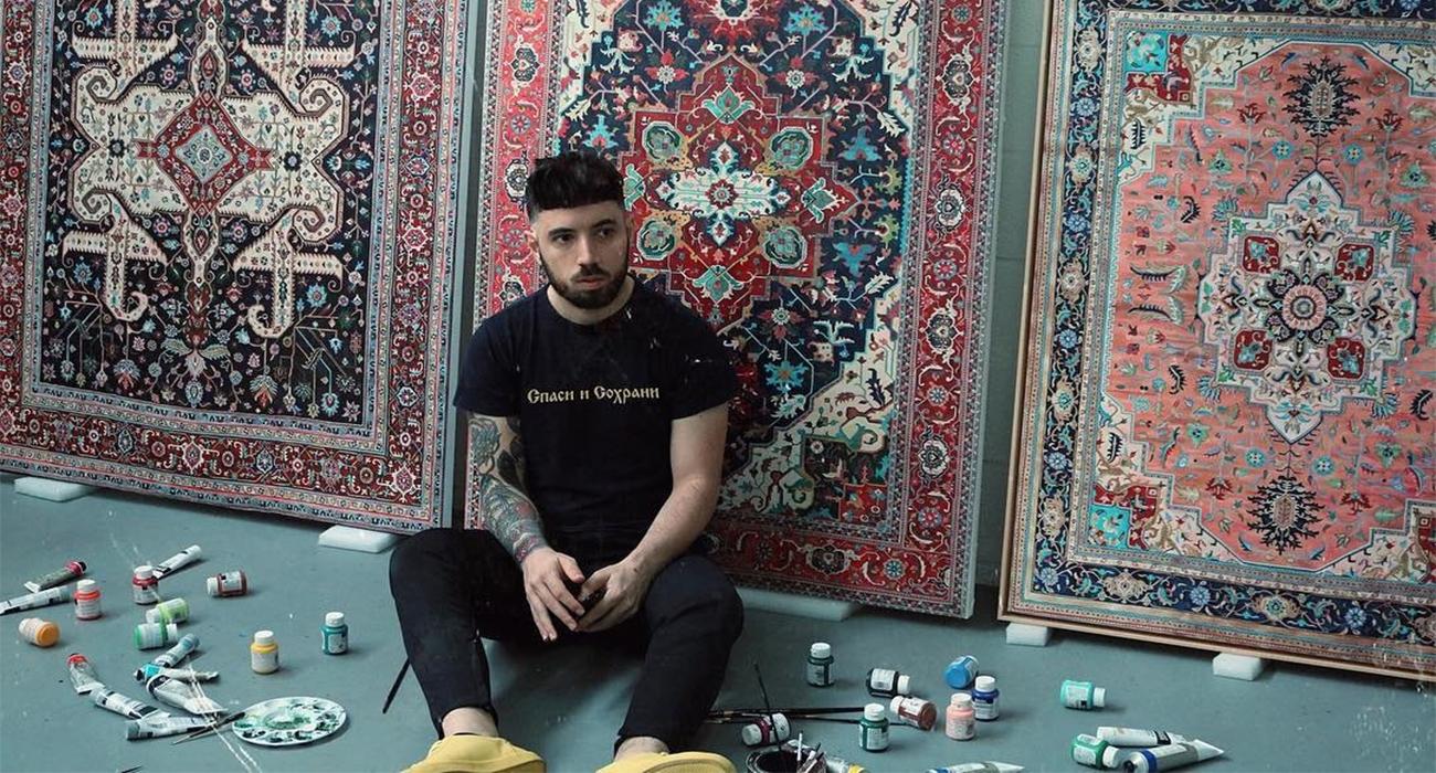 Questi tappeti persiani in realt sono dipinti for Tappeti persiani amazon