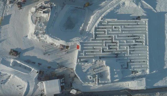 Labirinto di neve più grande del mondo in Polonia 2