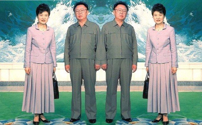 Kim Jong-il doppio e super alla moda dalla Corea del Nord