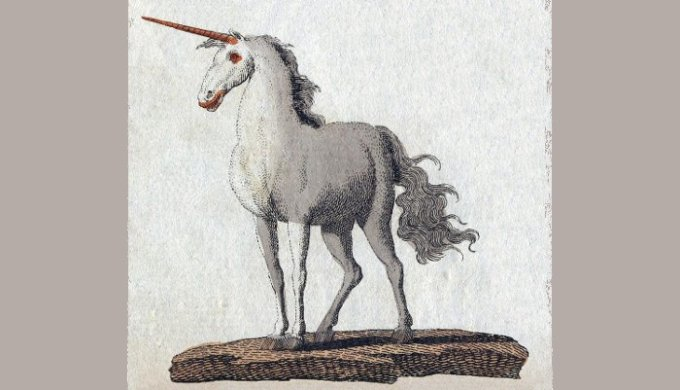 Unicorno, incisione di Friedrich Johann Justin Bertuch, 1806
