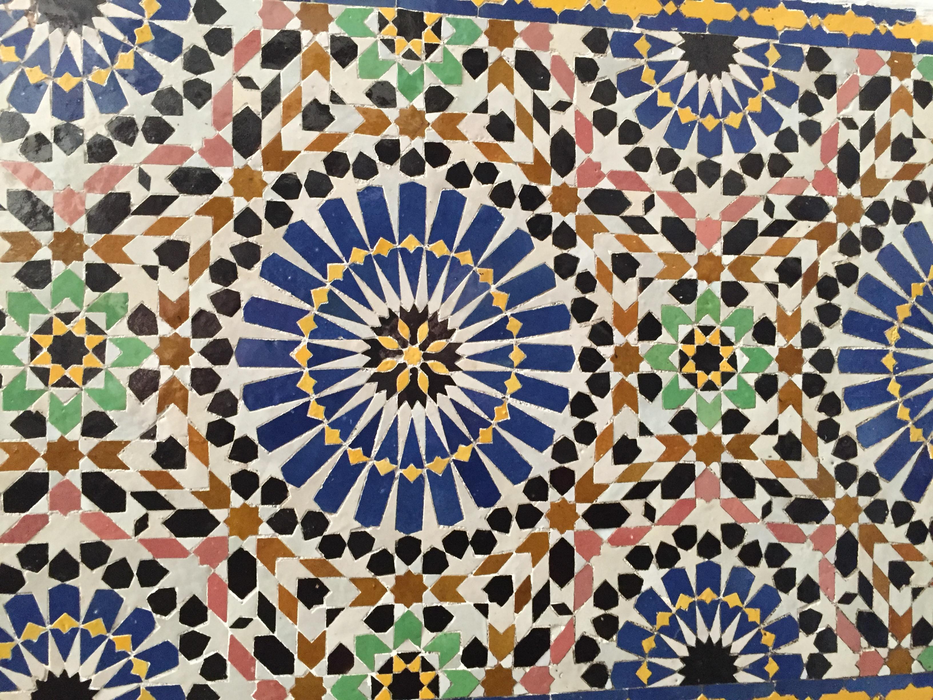 Appunti visivi di un grafico in vacanza: i pattern di fes marocco