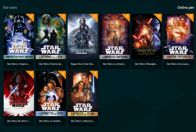 Tutta la saga di Star Wars a noleggio su TIMvision