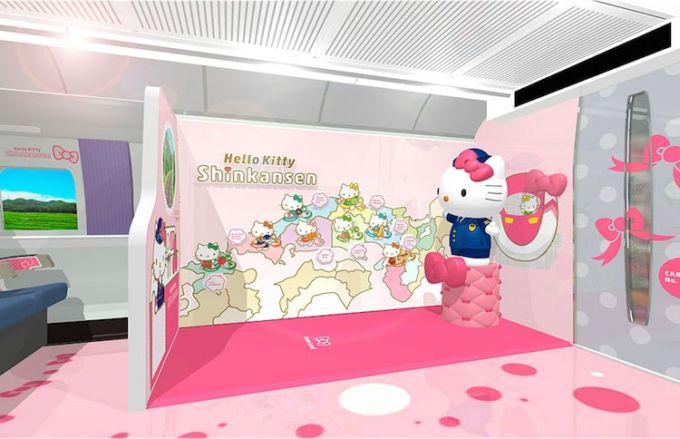 Sgabello Hello Kitty : Dal giappone ecco il primo treno ad alta velocità a tema hello kitty