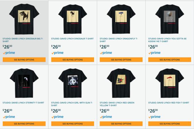 Alcune delle magliette di David Lynch