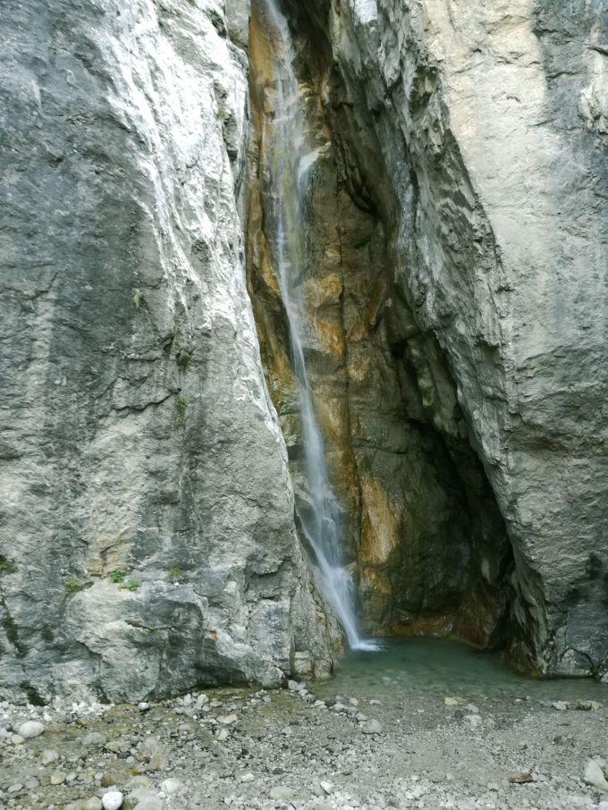 La cascata di Cenghen, nel comune di Abbadia Lariana