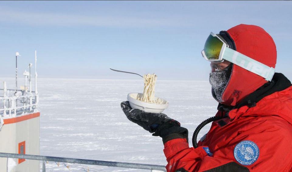 Antartide, le foto del cibo a -70°C