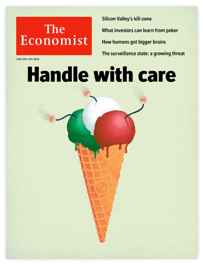 La copertina dell'Economist creata da D'Urbo Design
