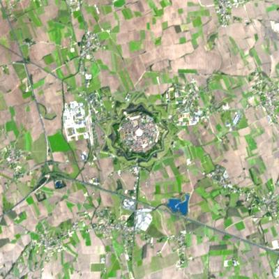 Palmanova vista dal satellite