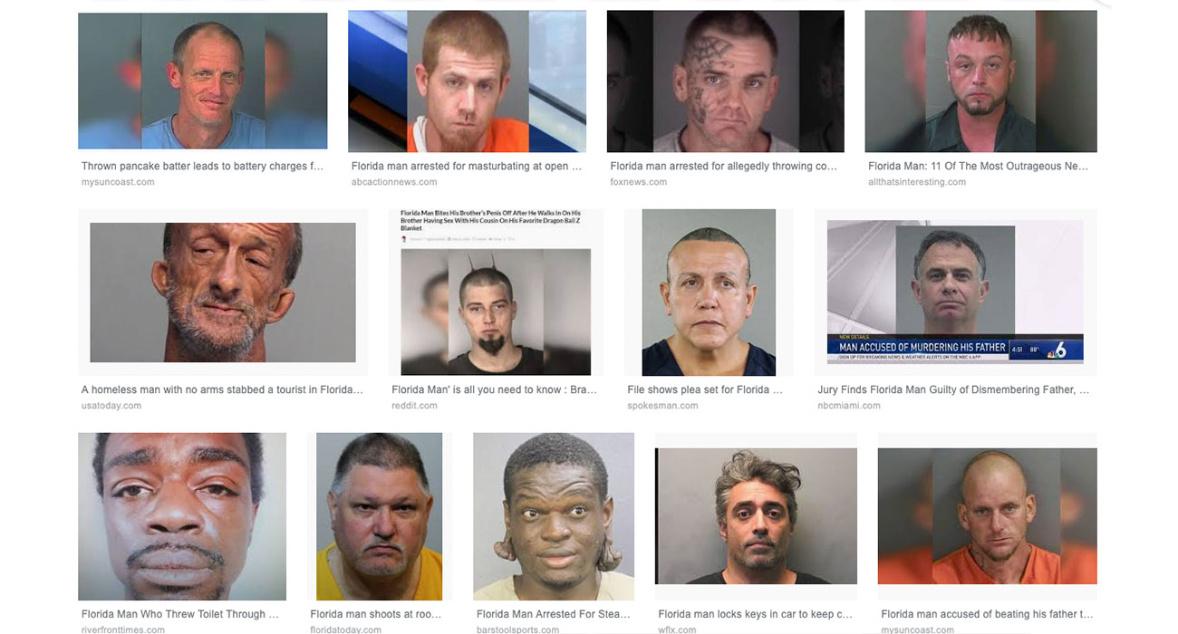 """Cerca """"Florida Man"""" più la tua data di nascita su Google e avrai una sorpresa"""