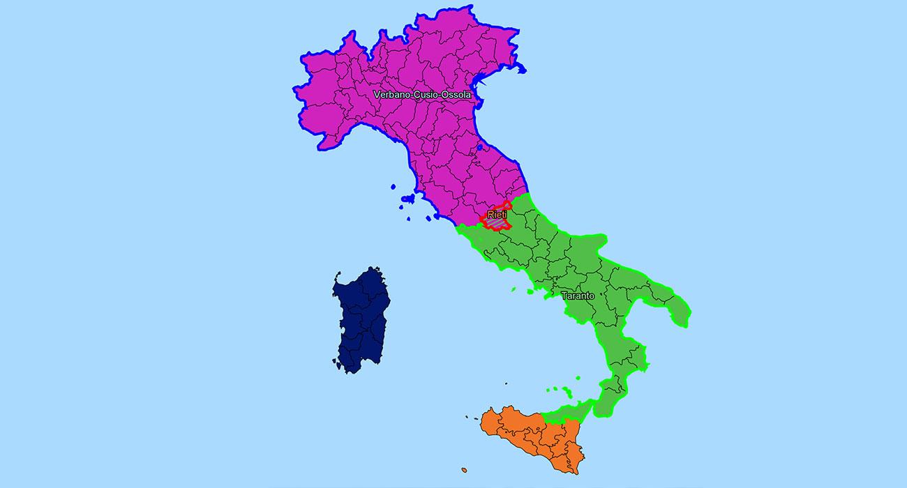 Italia Guerra Bot 2020: se le province italiane vanno in guerra tipo Risiko