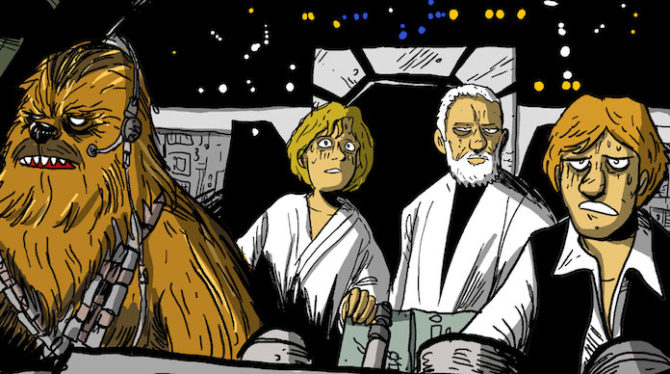 This Is Not A Love Song presenta il remake di Star Wars disegnato da Nova e Zerocalcare