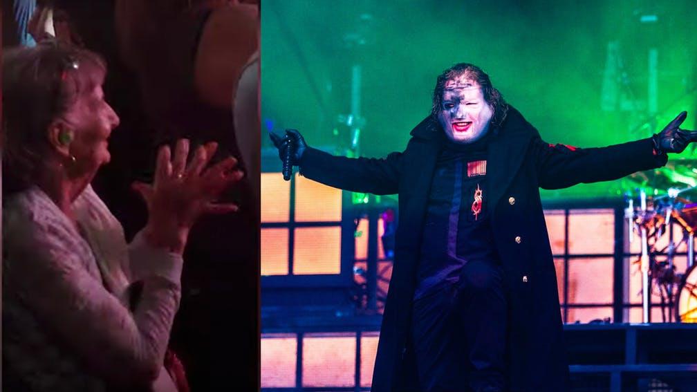 Il video di una nonnina felicissima al concerto degli Slipknot