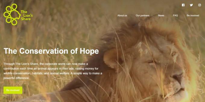 La petizione vuole raccogliere fondi The Lion's Share un ente che raccoglie fondi per progetti di salvaguardia ambientale