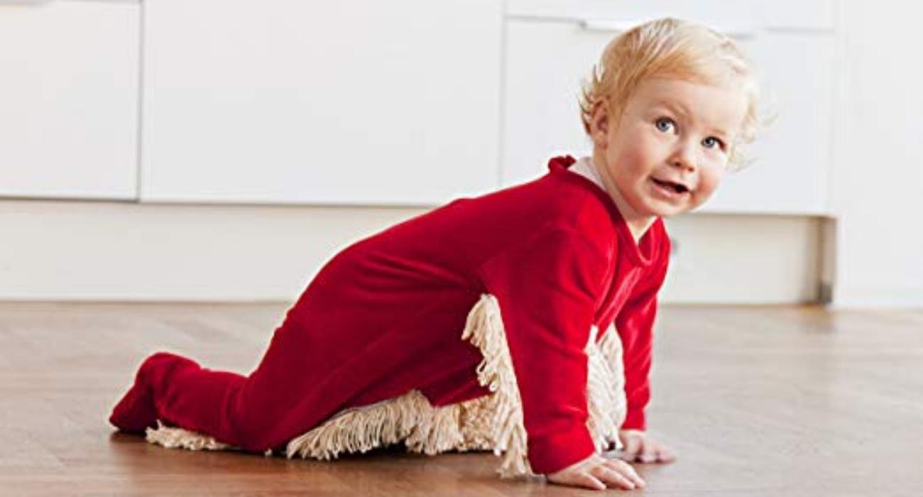 Trasforma tuo figlio in un mocio con la tutina Baby Mop