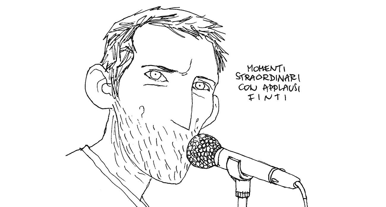 """Gipi torna al fumetto e commuove con """"Momenti straordinari con applausi finti"""""""