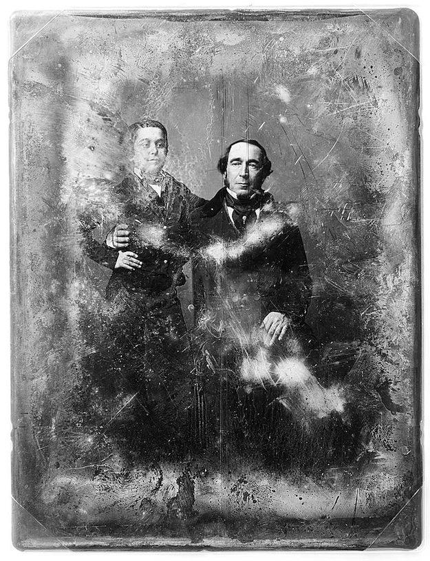 Ritratto di un signore di 40 anni con suo figlio di 14 (fra il 1850 e il 1860)