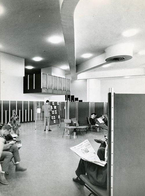 Interni del complesso a Ivrea. 1960
