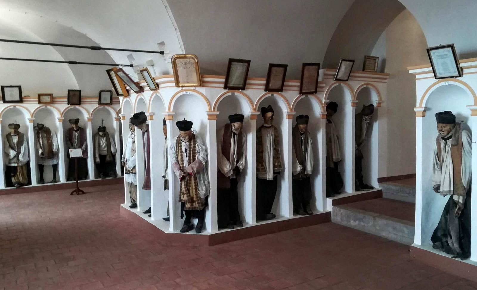 La sala principale della cripta