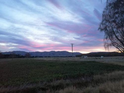 L'alba mentre andavamo al lavoro