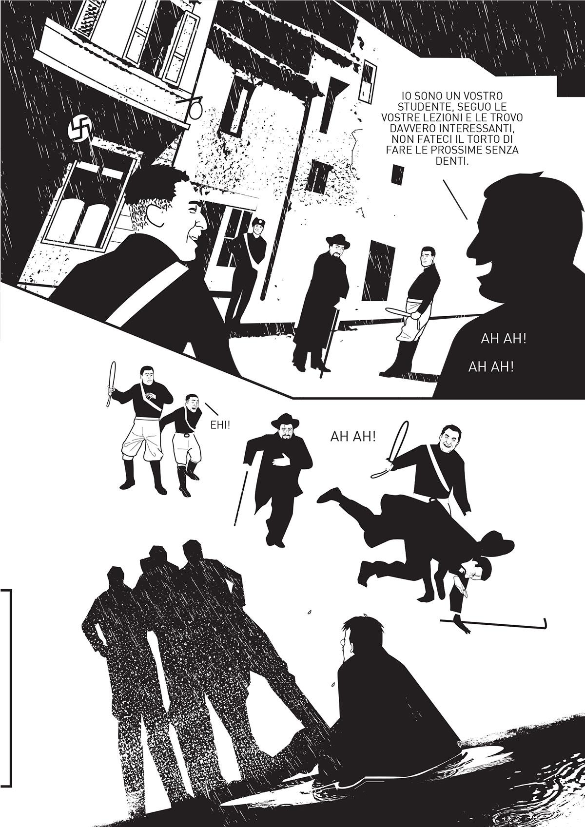 Come vedete le vignette presentano bianchi e neri sparatissimi
