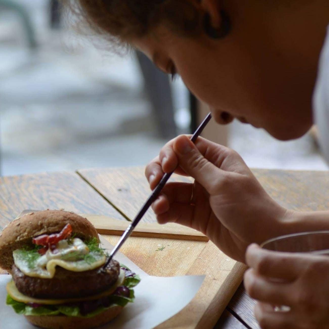 pitturare il cibo